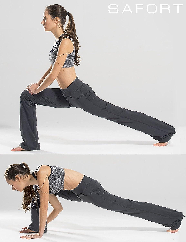 Safort 71cm// 76cm// 81cm//86cm Cicitura Interna Normale//Alti Pantaloni Yoga Svasati Quattro Tasche Pantaloni a Zampa dElefante Stivale Lungo