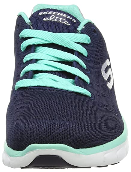 Skechers SKEES Synergy-Moonlight Madness, Baskets Sportives Femme - Bleu (NVAQ) - 35.5