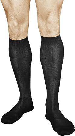 vitsocks Calcetines Traje 100 ALGODÓN Altos Hombre (2 PARES) Suaves Finos: Amazon.es: Ropa y accesorios