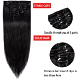 "14"" Remy Clip in on Hair Extensions Remy Human Hair"