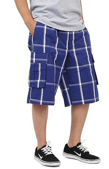 Shaka Wear Plaid Cargo Shorts For Men Sizes S 5xl Amazon Com