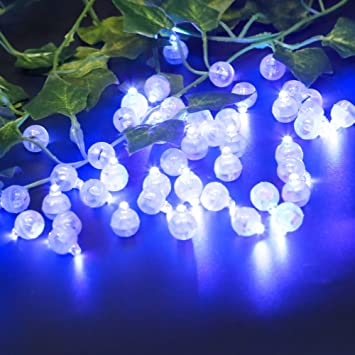 accmor 100pcs led mini round ball balloon light long standby time ball lights for paper