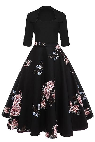 Babyonlinedress Vestido de Mujer De Fiesta Para Bodas Estilo Vintage A line Diseño Clásico Y Básico