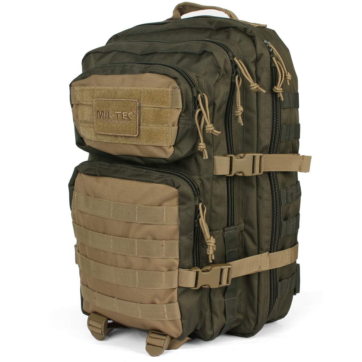 Mil-Tec US Assault Mochila Grande Ranger Green//Coyote