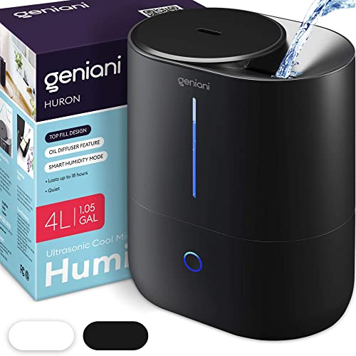 Smart Ultrasonic Cool Mist Humidifier for Bedroom & Essential Oil Diffuser for Home (Large Room), for Baby [Geniani] Picture