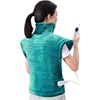 MaxKare 60 x 90 cm Heizkissen für Rücken Schulter Nacken Abschaltautomatik Wärmekissen und Schneller Heiztechnologie für Entlastung von Rücken und Schultern Heizdecke aus Angenehmem Flanellmaterial