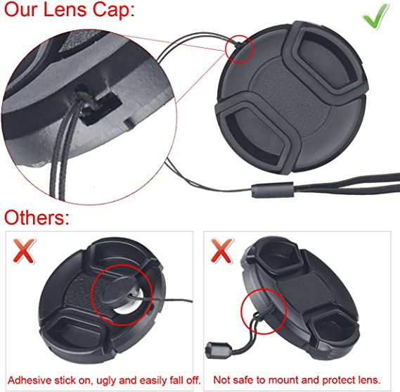 Nwv Direct Microfiber Cleaning Cloth for Sony HDR-CX7 + Lens Cap Holder 37mm Lens Cap Side Pinch