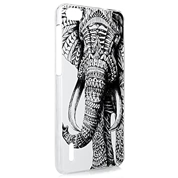 Lanveni Gemalt Durchsichtig Hardcover für Huawei Honor 6 Schutzhülle ...