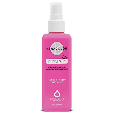 Keracolor Lite Keratin Leave in Conditioner for Color Treated Hair Spray with Coconut Oil - Detangler for Curly Hair - Paraben, Gluten and Vegan Free - Purify Plus Lite, 7 Fl Oz