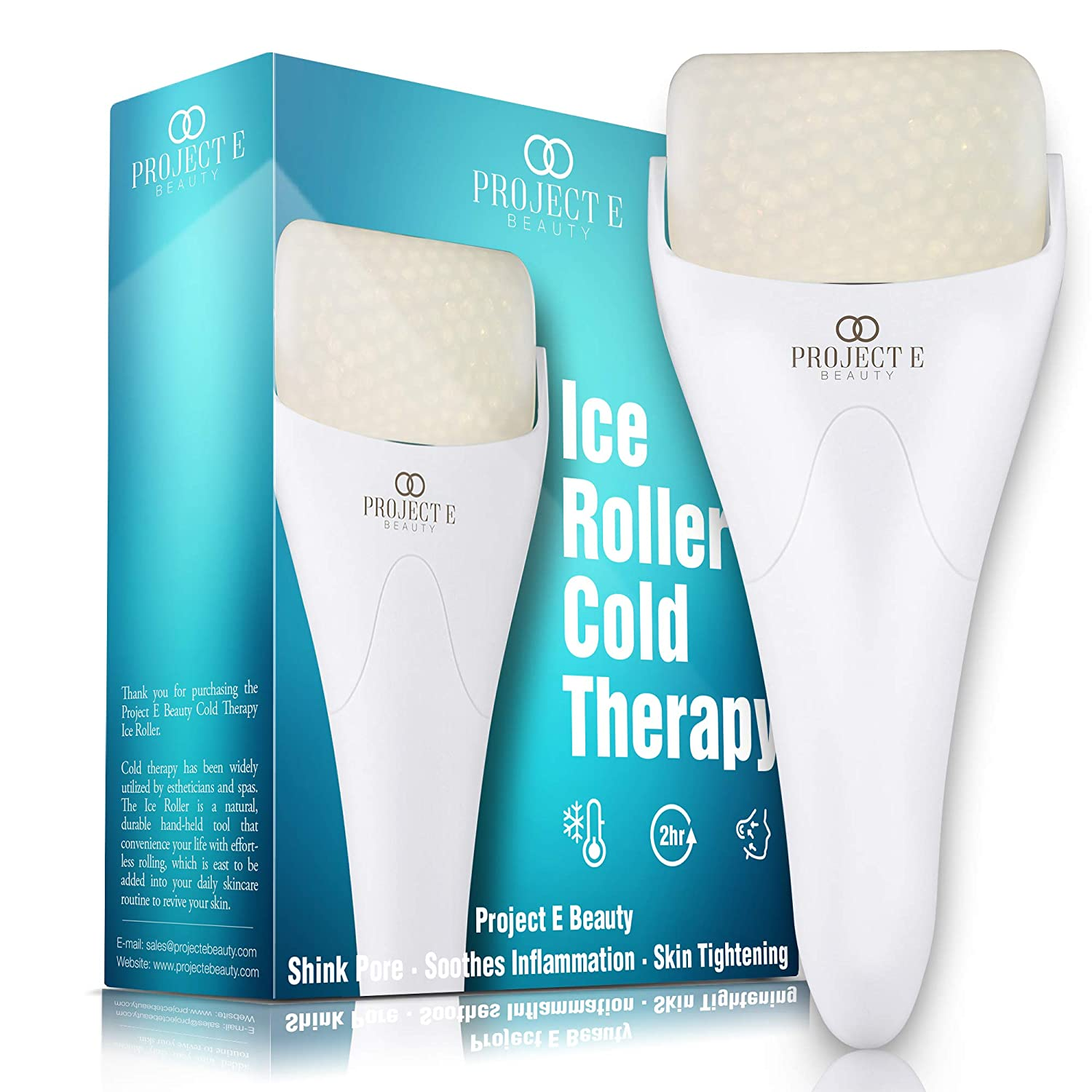 Ice Roller Massager for Face Eye Body Massage Under Eye Puffiness Brightening Cooling Therapy Cool Roller Skin Tightening Skin Care Reduce Wrinkles Dark Circles Muscle Soreness Pain Relief Redness
