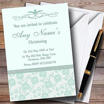 Muy Verde Menta Y Salvia Personalizado Invitaciones Para