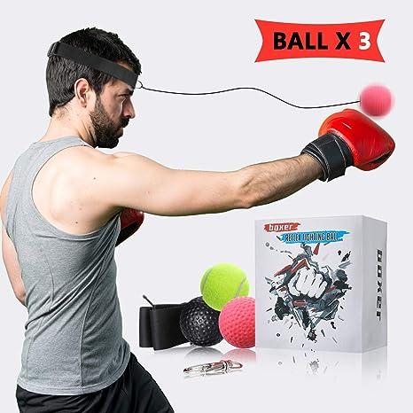 Charminer - Balón de Boxeo, 3 Pelotas de Poliuretano, Pelota de ...