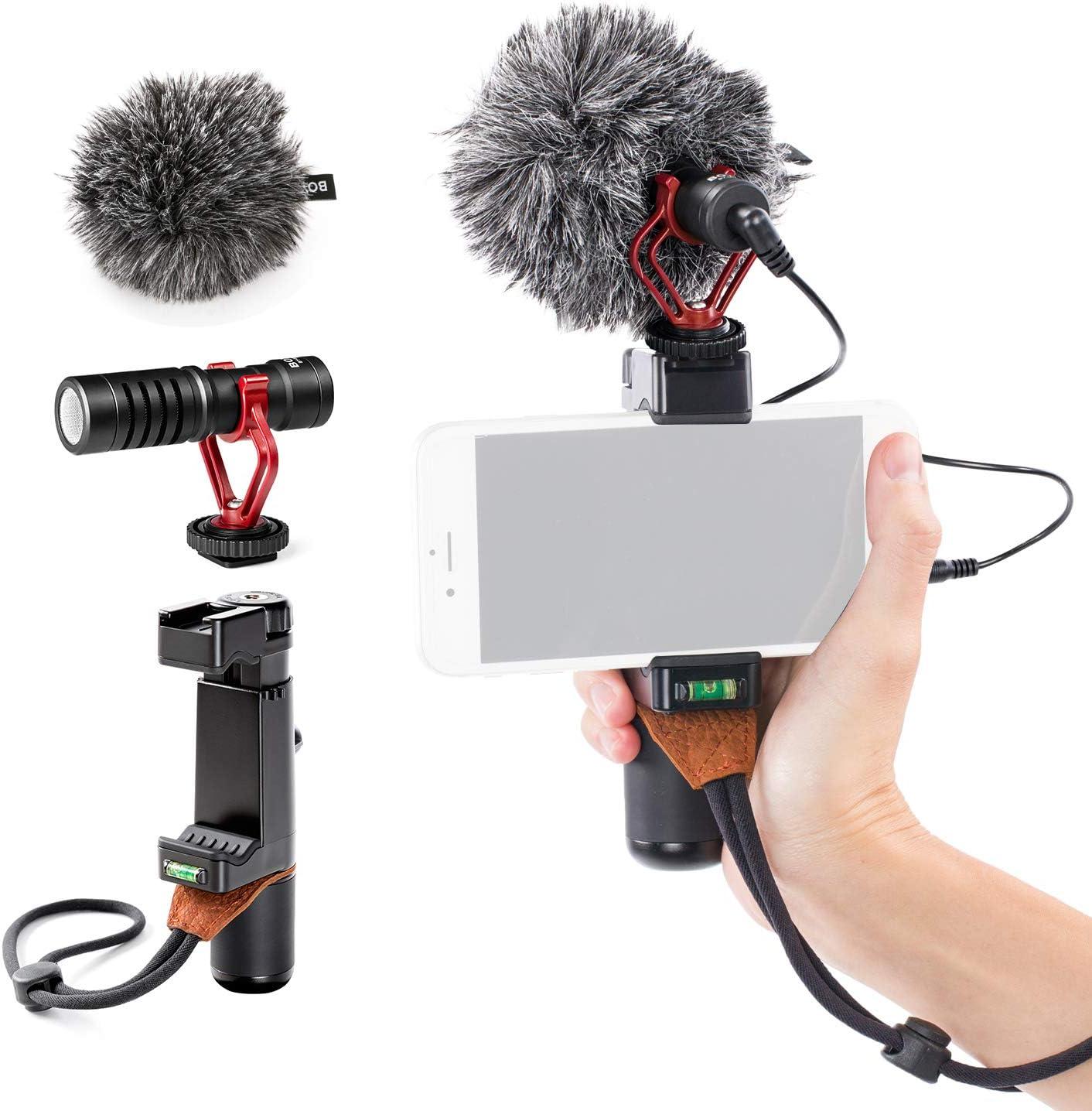 For DSLR Camera Samsung Phone BOYA BY-MM1 3.5mm Microphone Pocket Video Mic