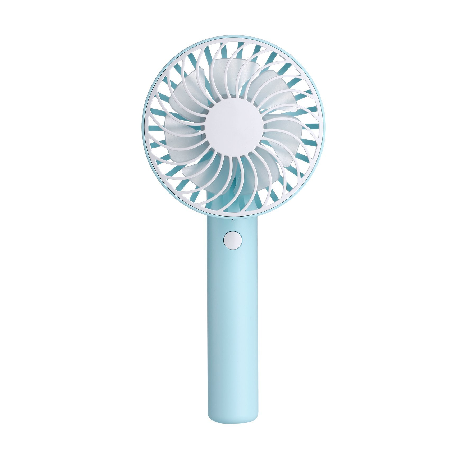 Mini Handheld Fan, YiMiky Foldable Personal Portable Desktop Desktop Cooling Fan with USB Rechargeable Battery Electric Fan for Office Outdoor Home Travel (Blue)