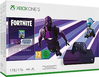 Microsoft Xbox One S - Consola de 1 TB, Degradado Morado + 1 Mando ...