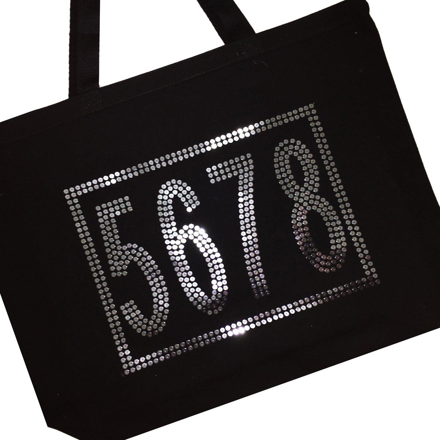 5-6-7-8 Sequin Dance Bag (Black)