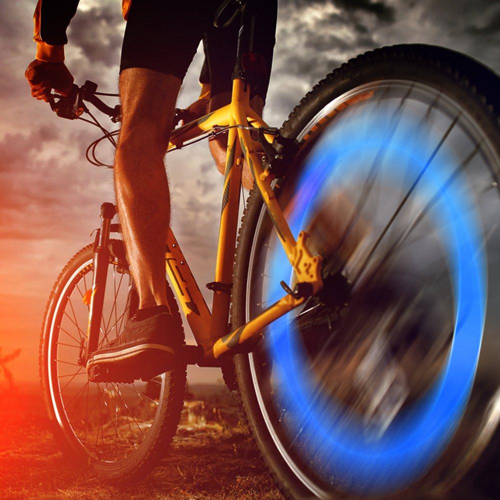 passend auf alle Standard-Fahrradventile coole LED-Ventilkappe in blau Oramics Reifen LED