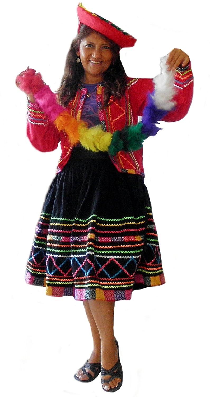 Alpacaandmore Original Set peruanisches Tracht Tanzkostüm