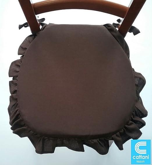 Cojines para sillas con Volantes-Juego de 4 unidades-Tela ...