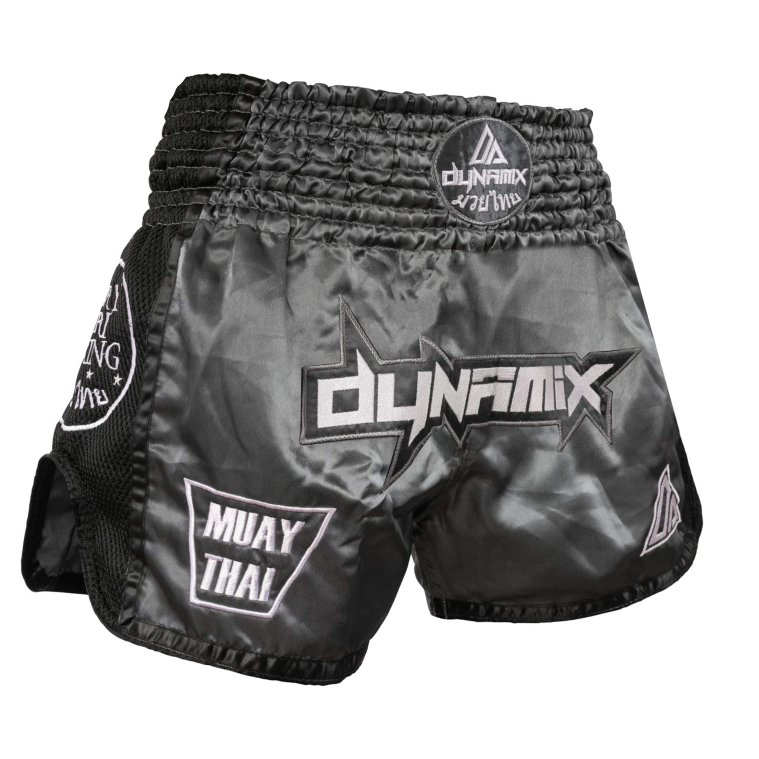 traditional Thaiboxing Short for men with Air-Tech-Material Premium Thai Short for thaiboxing Dynamix Athletics Muay Thai Shorts WARPATH Grey