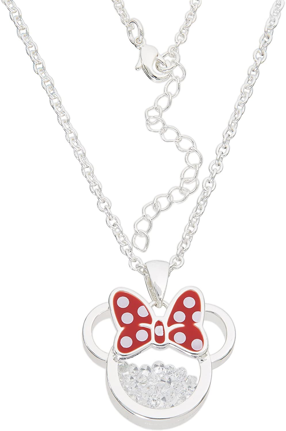 Disney Mickey Mouse STIRLING Silver Necklace Birthstone September W Box