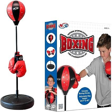 NSG Jr Training Boxing Set Includes Bounce Back Punching Ball /& Kids Boxing