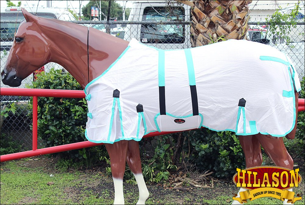 HILASON 69' UV Protect MESH Bug Mosquito Horse Fly Sheet Summer Spring White