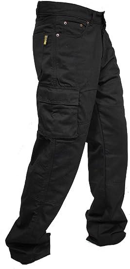 Amazon Com Newfacelook Pantalon De Jean Tipo Cargo Para Motocicleta Reforzado Con Fibra De Aramida Para Hombre W32 L34 Negro Automotive