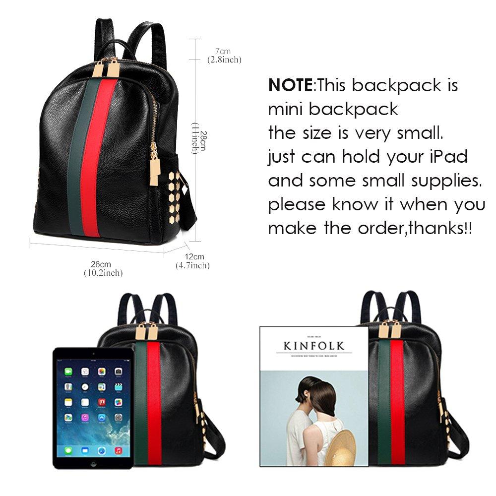 Mynos Backpack Bag Women Mini Rucksack Travel Bookbag For Girls Backpack Leather Bag Ladies Purse And Handbags by Mynos (Image #3)