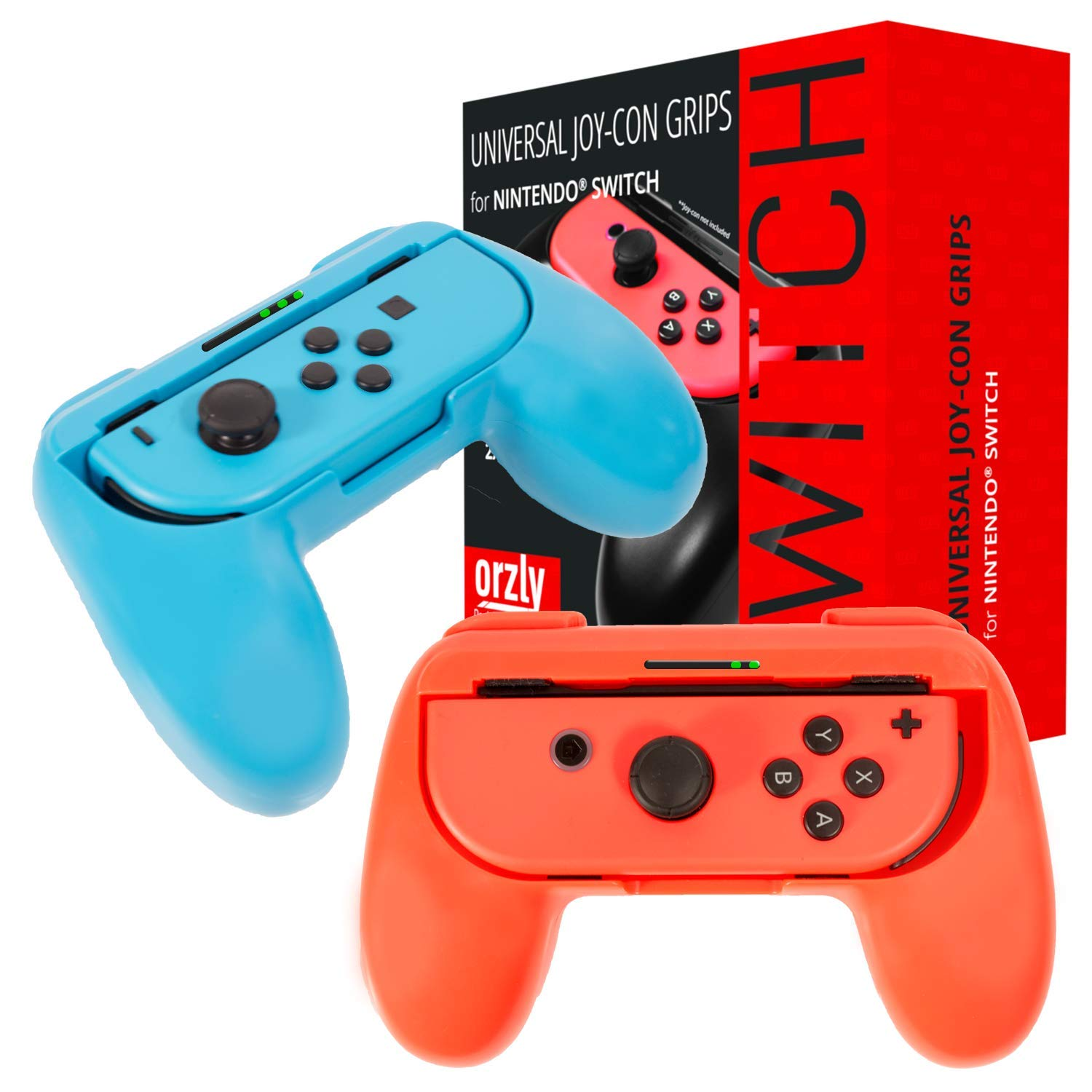Amazon.com: Orzly Grips compatible with Nintendo Switch Joy-Cons for ...