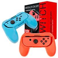 ORZLY® Grips compatible with Nintendo Switch Joy-Cons for Extra Comfort - TWIN PACK (1x RED & 1x BLUE) Universal Sided Grip Attachments for use with Nintendo Switch Joy-Cons