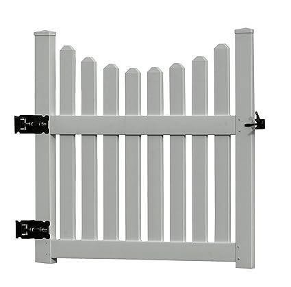 picket fence gate with arbor. 48.5\u0026quot;W Vinyl Cottage Picket Gate Fence With Arbor E