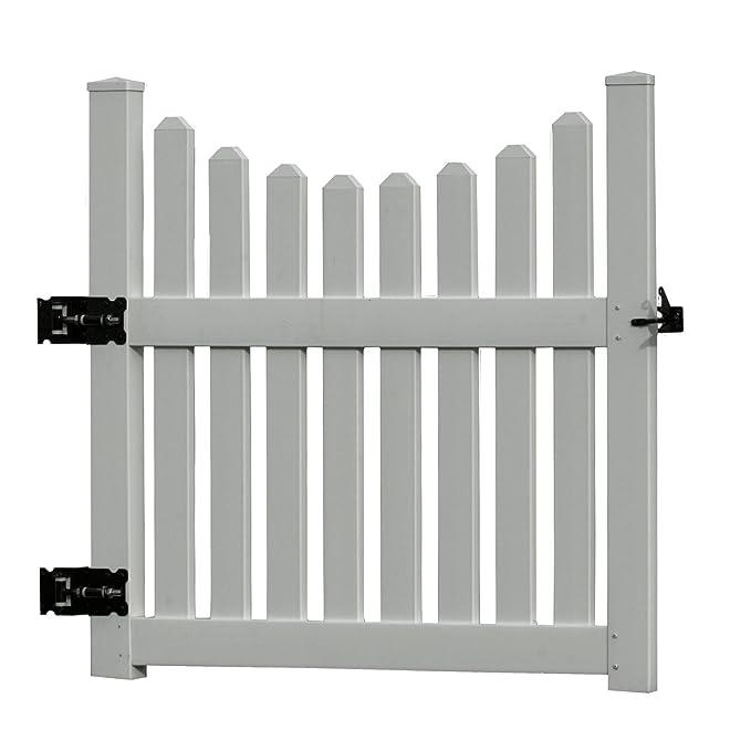 Amazon.com: Nueva Inglaterra husillos Cottage Picket Puerta ...