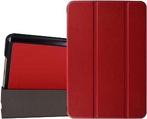iPad Mini 3/2/1 case - Tessday Ultra Slim Lightweight Smart Shell Standing Cover for Apple iPad Mini 3, Mini 2, Mini 1, Red