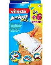 Vileda Attractive Plus, Recambios para mopa, pack de 2 x (24 + 6