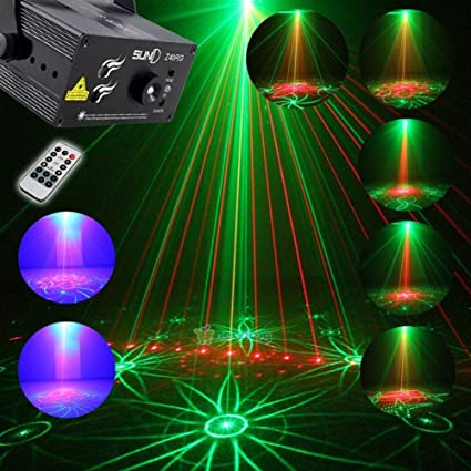 Wonsung 40 gobos red green RG light 3W LED BLUE Stage Lighting Projector Spotlight auto Sound & Amazon.com: Wonsung 40 gobos red green RG light 3W LED BLUE Stage ...