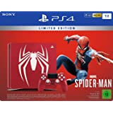 Sony PlayStation 4 Slim Console 1TB with Limited Edition Marvel's Spider-Man, Red