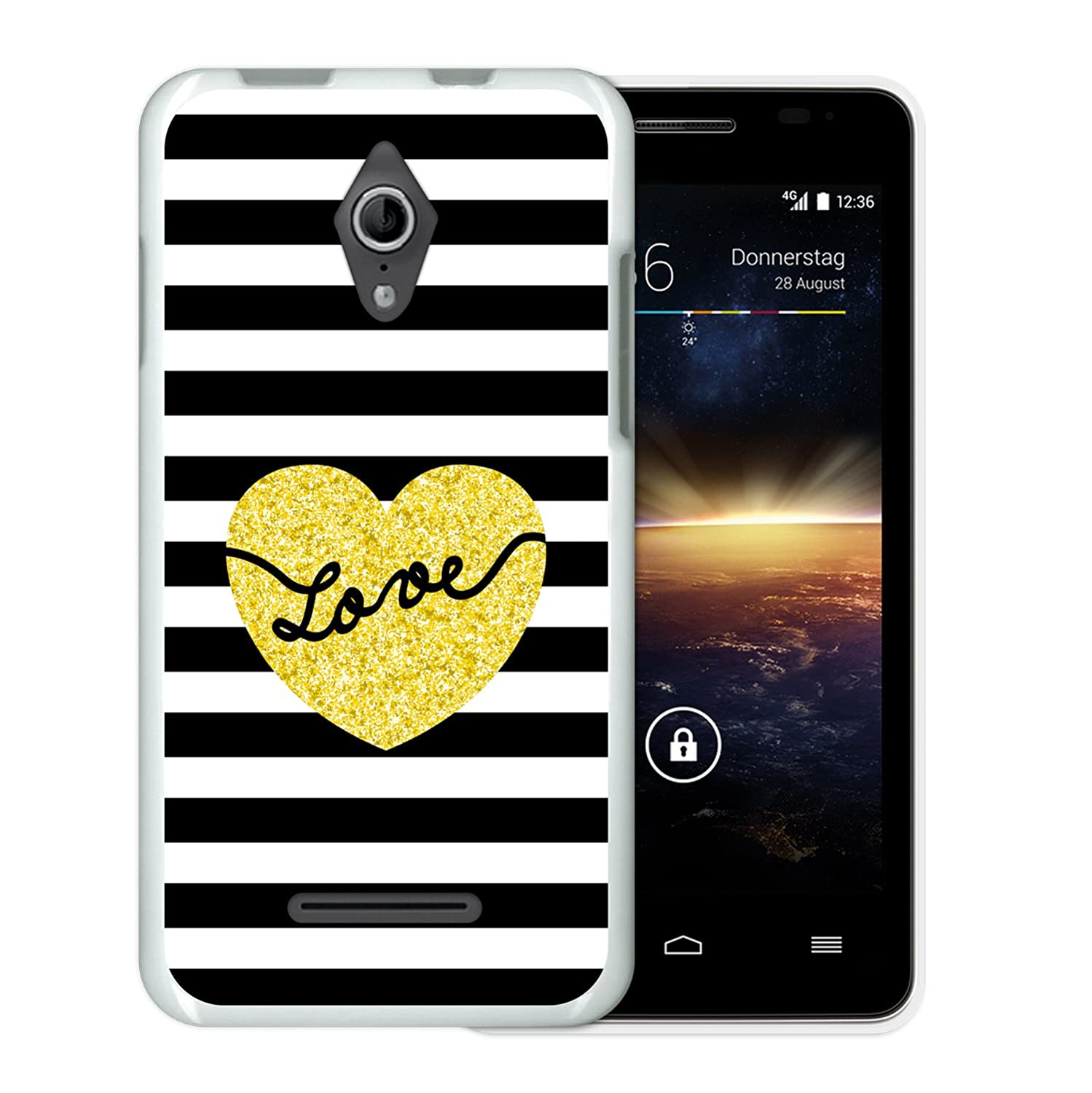 WoowCase Funda Vodafone Smart 4 Turbo, [Vodafone Smart 4 Turbo ] Funda Silicona Gel Flexible Corazones Pintados, Carcasa Case TPU Silicona: Amazon.es: ...