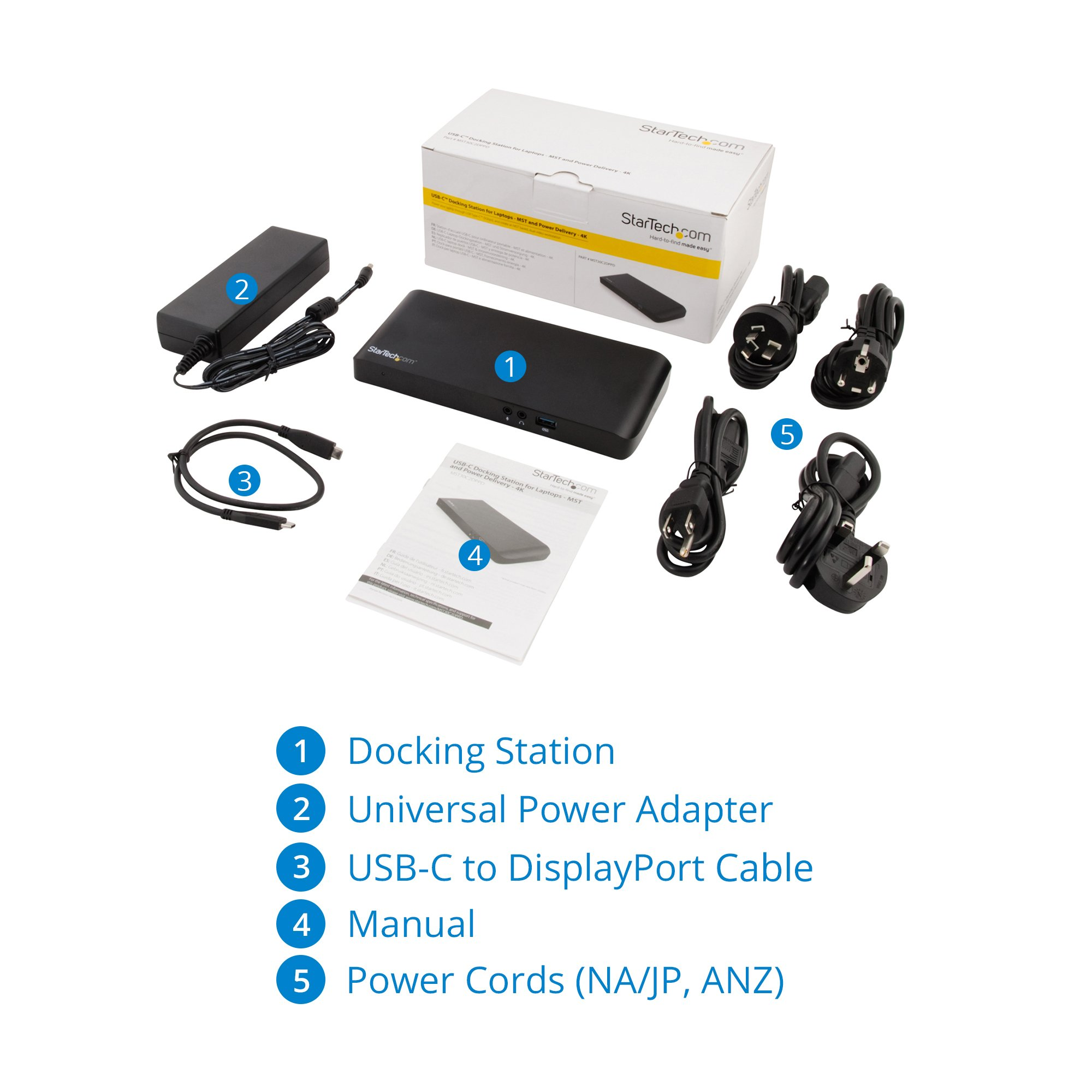 StarTech.com MST30C2DPPD USB C Dock - 4K - USB C to HDMI and DisplayPort - with Power Delivery (USB PD) - Laptop Docking Station by StarTech (Image #6)