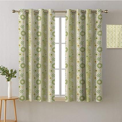 Thermal Blackout Printing Window shade Curtain Drape Panels Living Room Bedroom