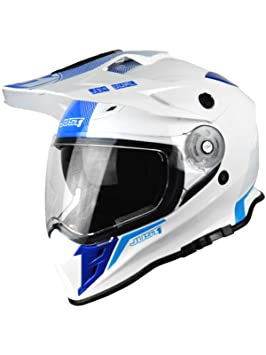 Casco Mx Just1 J34 Adventure Azul Neon (Xs , Blanco)