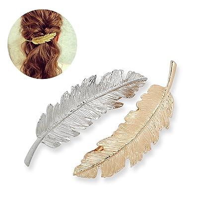 LEORX Horquillas pelo delicado Clip Pin garra accesorios broches tocado  estilo joyería del pelo -2pcs 3020c76c3d69