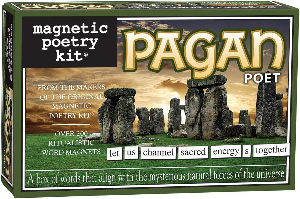 Magnetic Poetry Pagan Kit – Pagan Words for Refrigerator - Write Poems and Letters on The Fridge - Made in The USA 602394036520