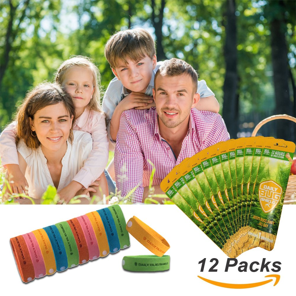 Kiveta Mosquito Repellent Bracelet -12 Packs All Natural Bug Repellent Bands Travel Repellent Wristbands For Kids, Adults & Pets, No Deet Non Toxic by
