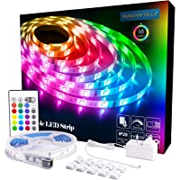 Pangton Villa 16.4-Foot Dimmable RGB 5050 LED Strip Light with 24key Remote Control and Power Supply