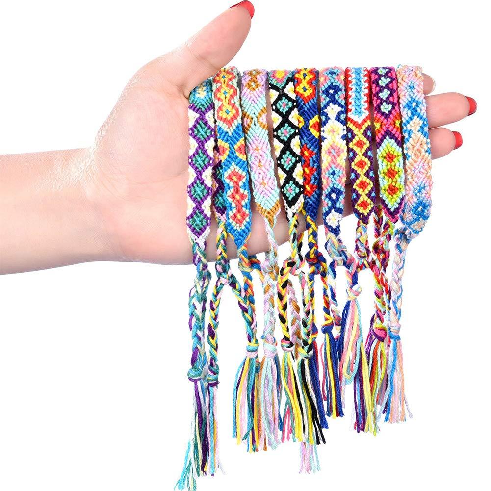 LoveInUSA Braided Bracelets,Nepal Style Friendship Bracelets Woven Bracelets Ankle Bracelets Friendship Souvenir