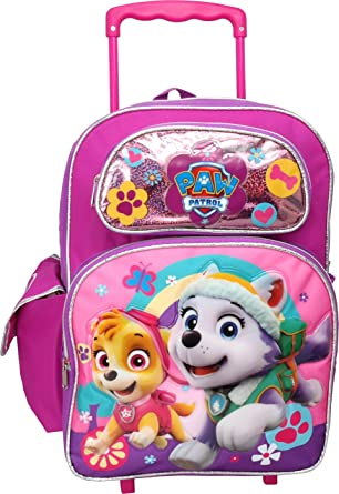 ad37ea52e0bd Image Unavailable. Image not available for. Color  Nickelodeon Paw Patrol  Skye Everest 16 inches Large Rolling Backpack