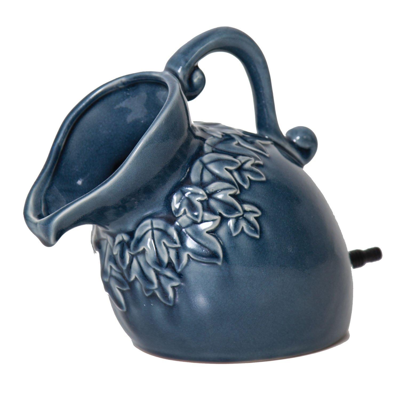 pond boss SPPD Ceramic Pouring Pitcher Spitter, Denim
