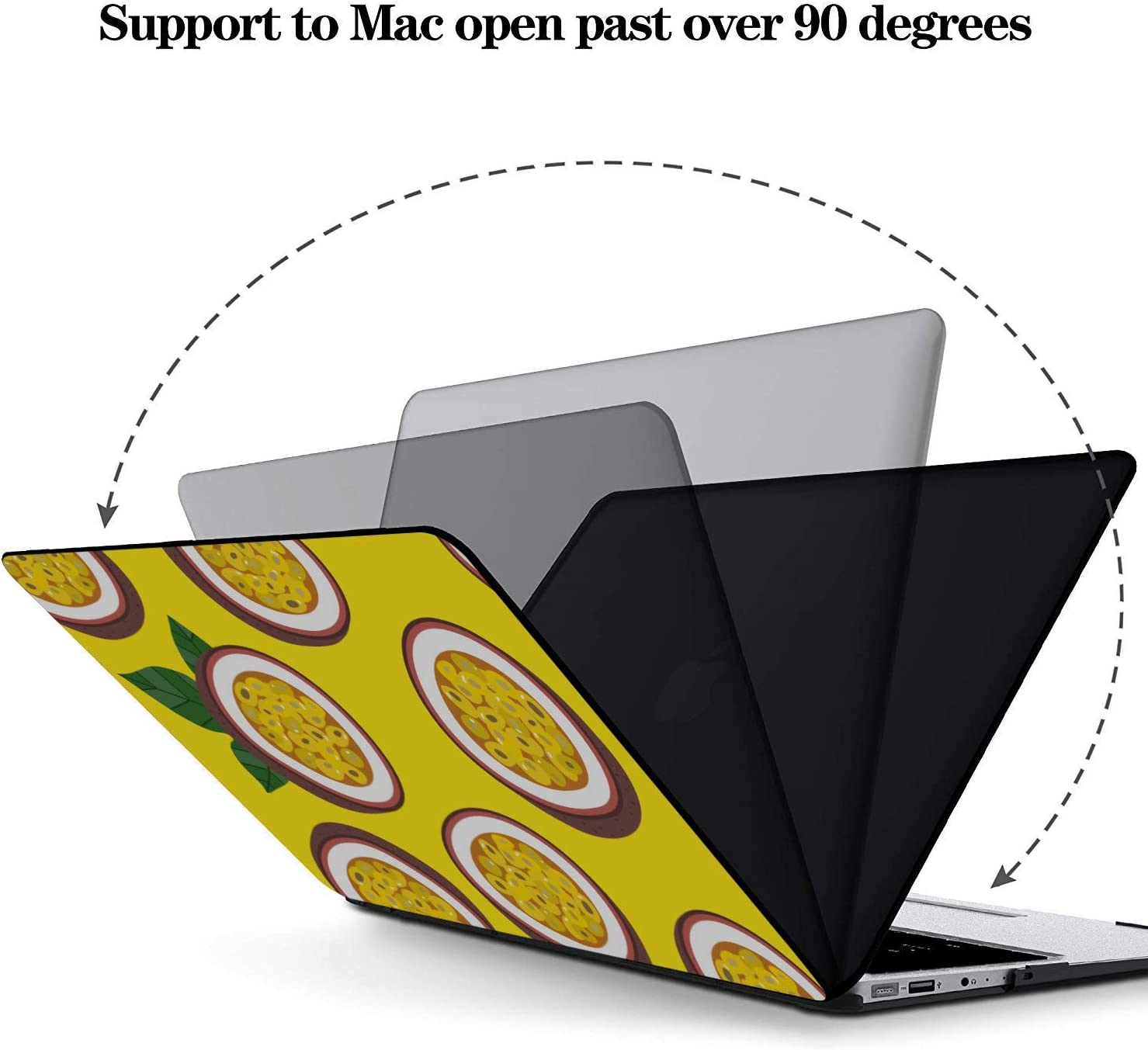Mac 13 Inch Case Summer Sweet Sour Passion Fruit Drink Plastic Hard Shell Compatible Mac Air 11 Pro 13 15 Protective MacBook Pro Case Protection for MacBook 2016-2019 Version
