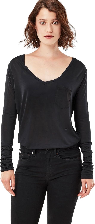 G-STAR RAW Audnya Straight V T L/S Camisa Manga Larga para Mujer